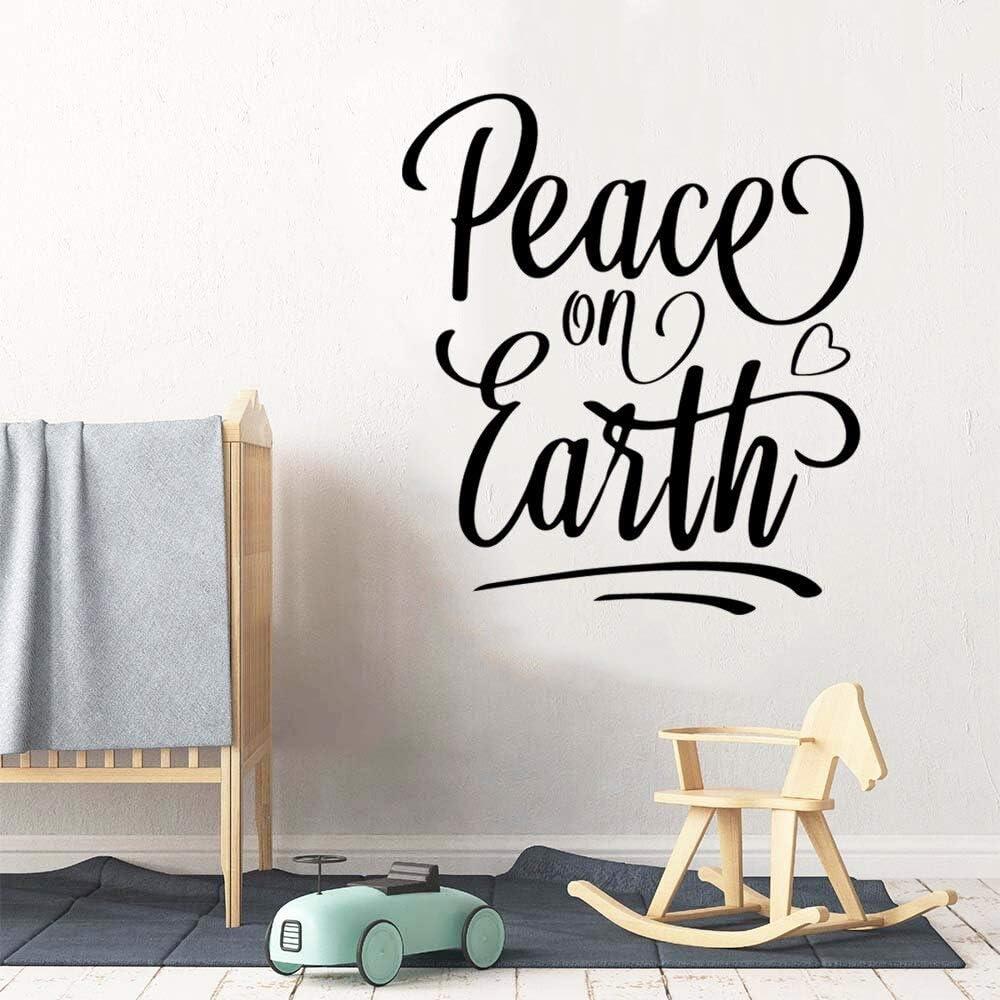 wZUN Paz en la Tierra Pegatinas de Vinilo para Pared decoración del hogar Pegatinas Sala de Estar Dormitorio Pegatinas Mural 43X74cm