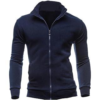 chaquetas hombre invierno, Sannysis chaquetas moto hombre ropa hombre blusa superior del cremallera Otoño Invierno