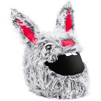 Moto Loot Helmet Cover for Motorcycle Helmet, Fun Rides and Gifts (Cover Only. Helmet Not Included) - Evil Rabbit: Automotive [5Bkhe0900115]
