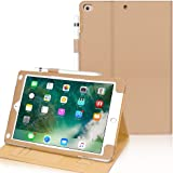 FYY Case for iPad Air 2 - Premium PU Leather Case Smart Auto Wake/Sleep Cover with Hand Strap, Card Slots, Pocket for iPad Ai