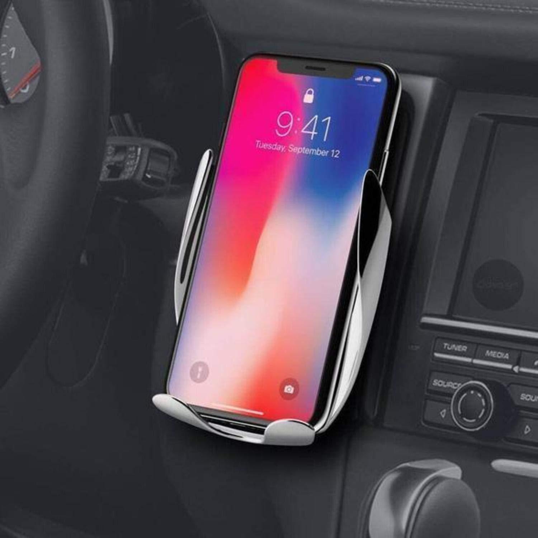 LIV Wireless Smart Sensor Car Charger Mount - Wireless Auto Clamping Car Charger Mount, Air Vent Phone Holder for Apple, Android Smartphones (Jet Black)