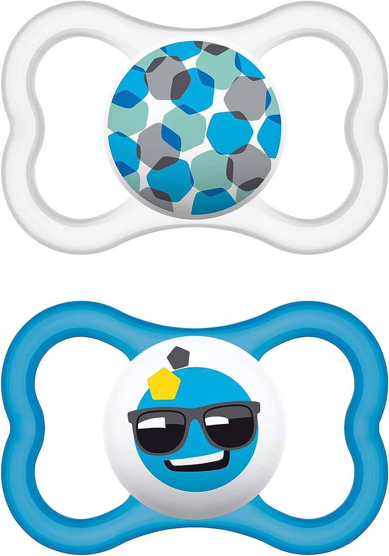 MAM Babyartikel 66217111 - Chupete de latex, colores surtidos, paquete de 2: Amazon.es: Bebé