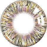 カラコン 1年 ワンペア ナチュラル カラーコンタクトレンズ 大直径14.5mm 度数-000 度なし 4色選べる junexi