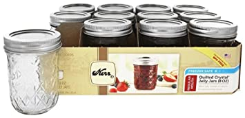 ball quilted crystal jelly jars 4 oz. kerr quilted crystal jelly jar 8oz set of 12 ball jars 4 oz