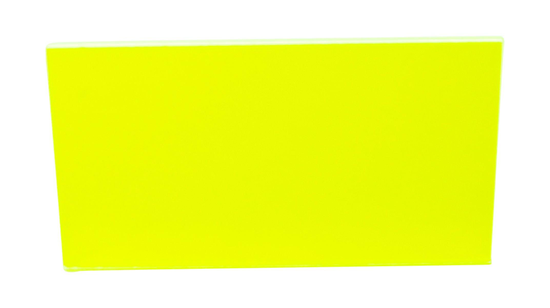 Falken Design Corporation FLUOR-GN9093-1-8/1224 Plastic Acrylic Plexiglas Lucite Acrylic Fluorescent Green Sheet, Transparent 92%, 12'' x 24'', 1/8'' Thick
