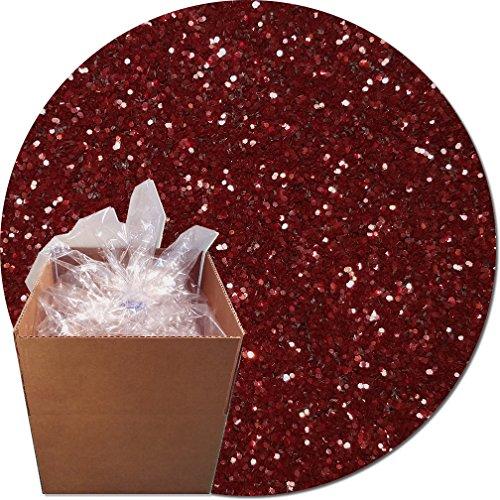 Glitter My World! Craft Glitter: 25lb Box: Maroon Burst by Glitter My World!