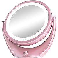 Espejo de Maquillaje de Doble Cara con luz