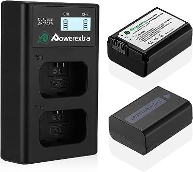 Powerextra Sony NP-FW50 Reemplazo 2 X 1500mAh Batería Rercargable ...