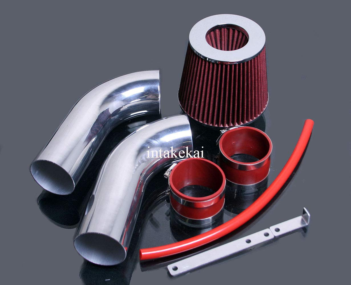 PERFORMANCE SHORT RAM AIR INTAKE KIT FOR 1999-2004 JEEP GRAND CHEROKEE 4.7 4.7L V8 ENGINE (RED) INTAKE KAI