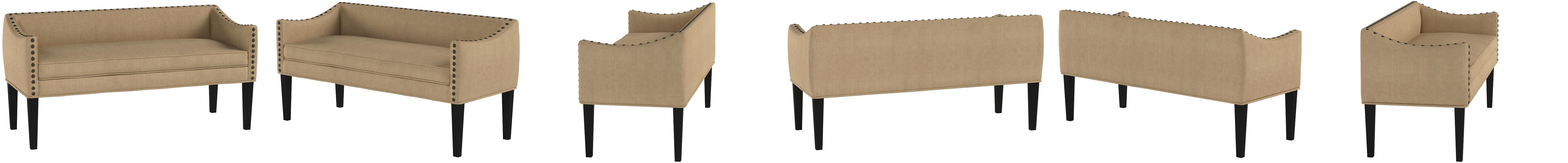 Amazon Com Leffler Home Whitney Transitional Long Upholstered Bench Chestnut Brown Furniture Decor