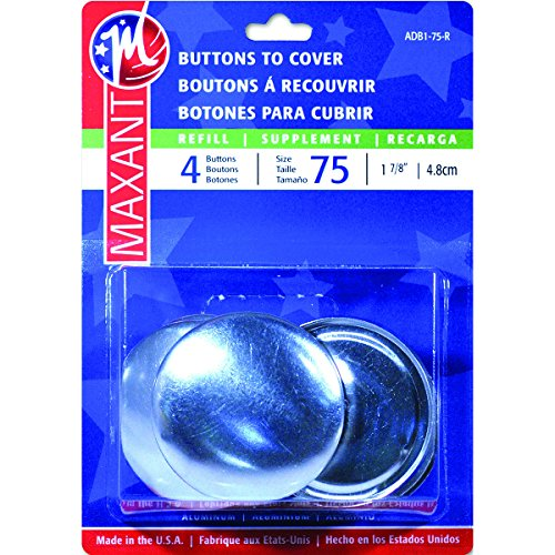 Maxant Button 4/Pack Cover Button Refill, 1-7/8-Inch