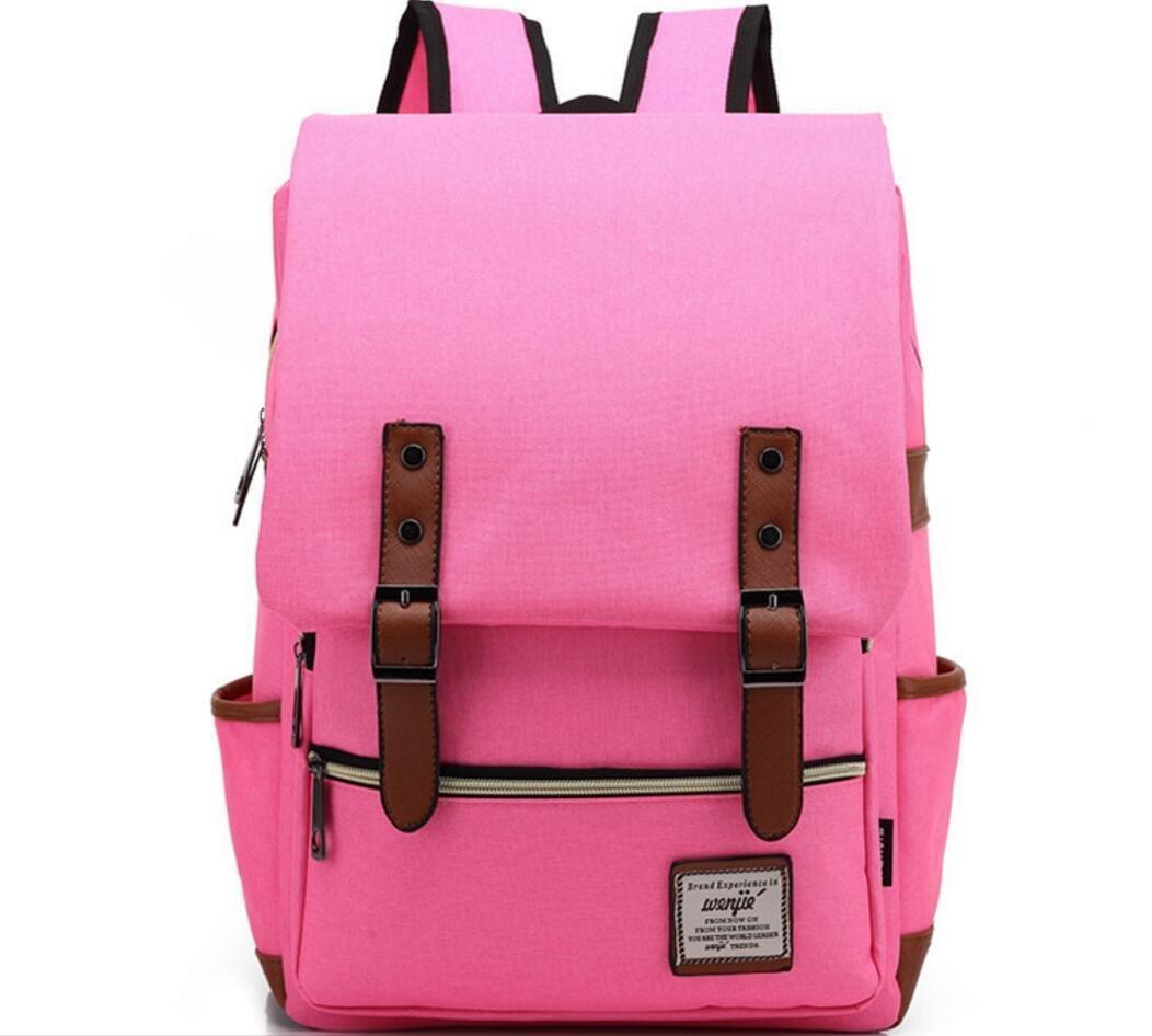 XibeiTrade Vintage Backpack School College Travel Bag Daypacks (Purple) wenjie013-1