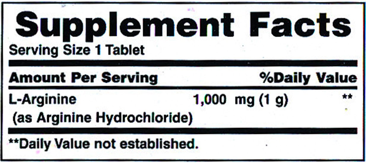 Nature's Bounty L Arginine 1000 mg, 50 Tablets