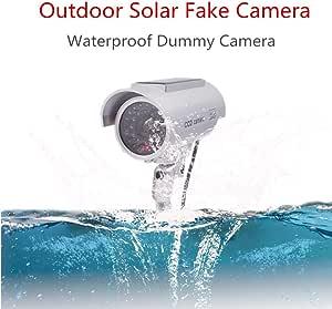 Surveillance Recorder Solar Outdoor Camera Bullet Simulation Surveillance CCTV Camera Led Flashing Dummy Home Security