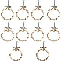 Angoily 10 Stuks Pull Ring Handvatten Zinklegering Enkel Gat Drawers Handvat Sieraden Doos Knoppen Kaptafel Handvat Voor…