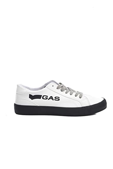 Pour Chaussures Gas Eu 40 Homme Baskets 04white Blanc 5qf0w8