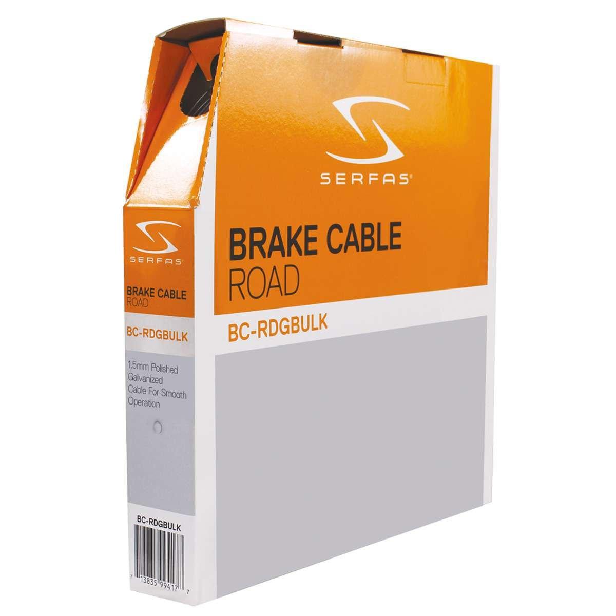 Serfasロード自転車亜鉛メッキスチールブレーキケーブル – バルクボックス – bc-rdgbulk B076GB2BPH