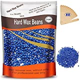 Hard Wax Beans for Painless Hair Removal, Brazilian Waxing for Face, Eyebrow, Back, Chest, Bikini Areas, Legs At Home 300g (10 Oz)/bag with 12pcs Wax Spatulas (Chamomile)
