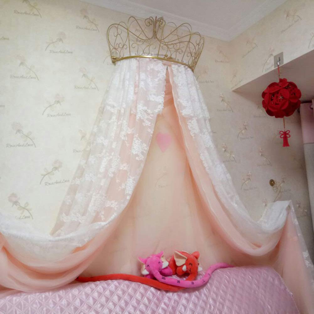 HOMEJYMADE Crown Dome Mosquito net,Princess Bed Canopies Kids Play House Princess Tent with Sparkly Stars HOT in Instagram-E 59inch