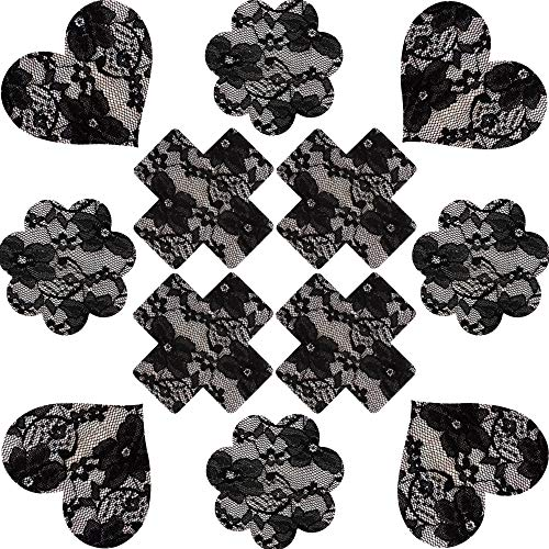 Flowers Dew - SoarDream Sexy Lace sticker heart-shaped/flower/cross disposable dew point breast paste breast paste
