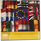 Springbok Puzzles - Flags of Europe - 400 Piece Jigsaw Puzzle - Large 26.75 Inches by 20.5 Inches Puzzle - Made in USA - Unique Cut Interlocking Pieces - Big Pieces for Kids & Small Pieces for Adults