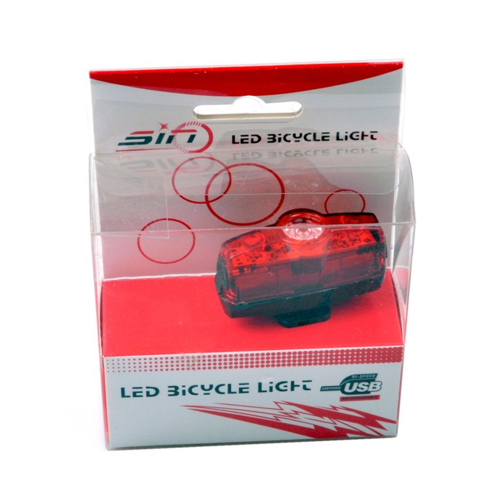 T610 3 LED 4 Modes Bicycle Tail Light Night Cycling Tail Light USB Rechargeable by Isguin (Image #3)