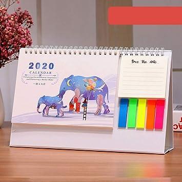 FJXQCY Calendario de escritorio octubre 2019 a diciembre ...