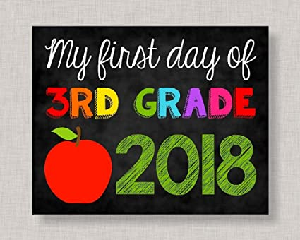 picture about First Day of 3rd Grade Sign Printable referred to as : Olga212Patrick 1st Working day of 3rd Quality Indicator