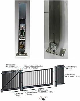 Bauer 102895, puerta corredera Genios 210 en alu-Post: Amazon.es: Bricolaje y herramientas