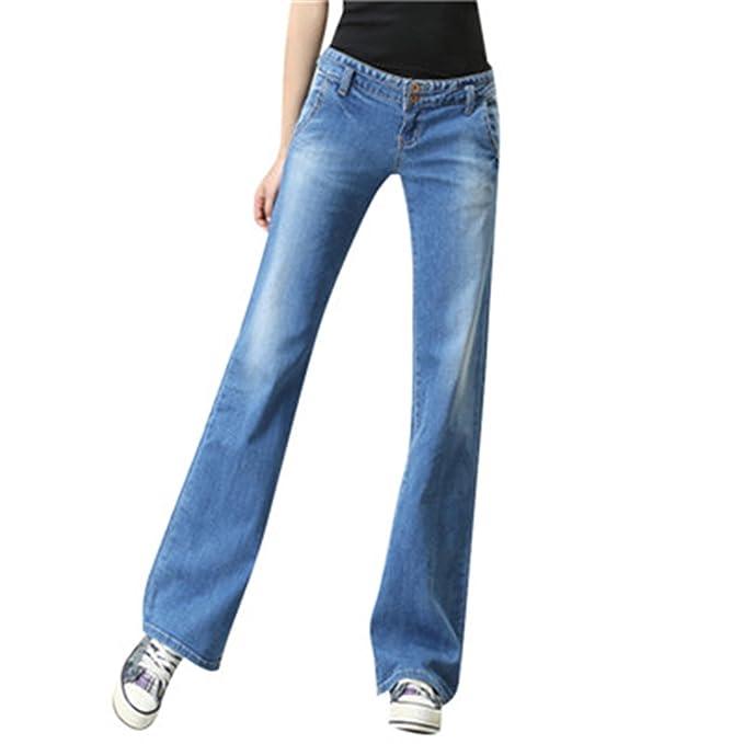 Descubrir características sobresalientes especial para zapato David Salc Women Jeans Loose Low Waist Pantalones Bell ...