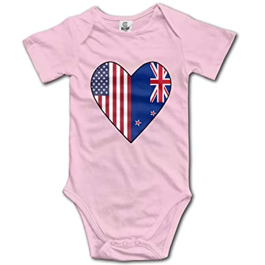 USA Infant Newborn Baby Boy Girls Cotton Romper Clothes Outfit Bodysuit Playsuit