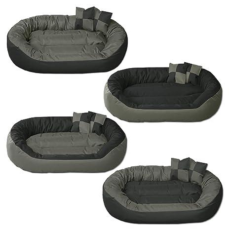BedDog 4en1 Sunny Antracita/Gris XL Aprox. 85x70cm colchón para Perro, 13 Colores, Cama, sofá, Cesta para Perro