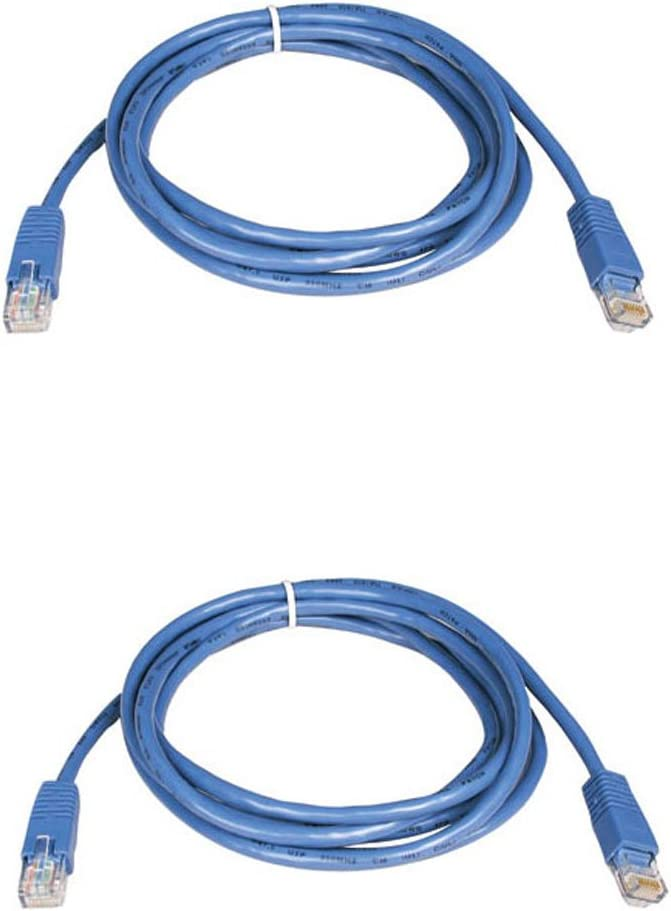 BattleBorn 10 Pack Lot 3ft Cat5e Cat5 Ethernet Network LAN Patch Cable Cord RJ45 Blue