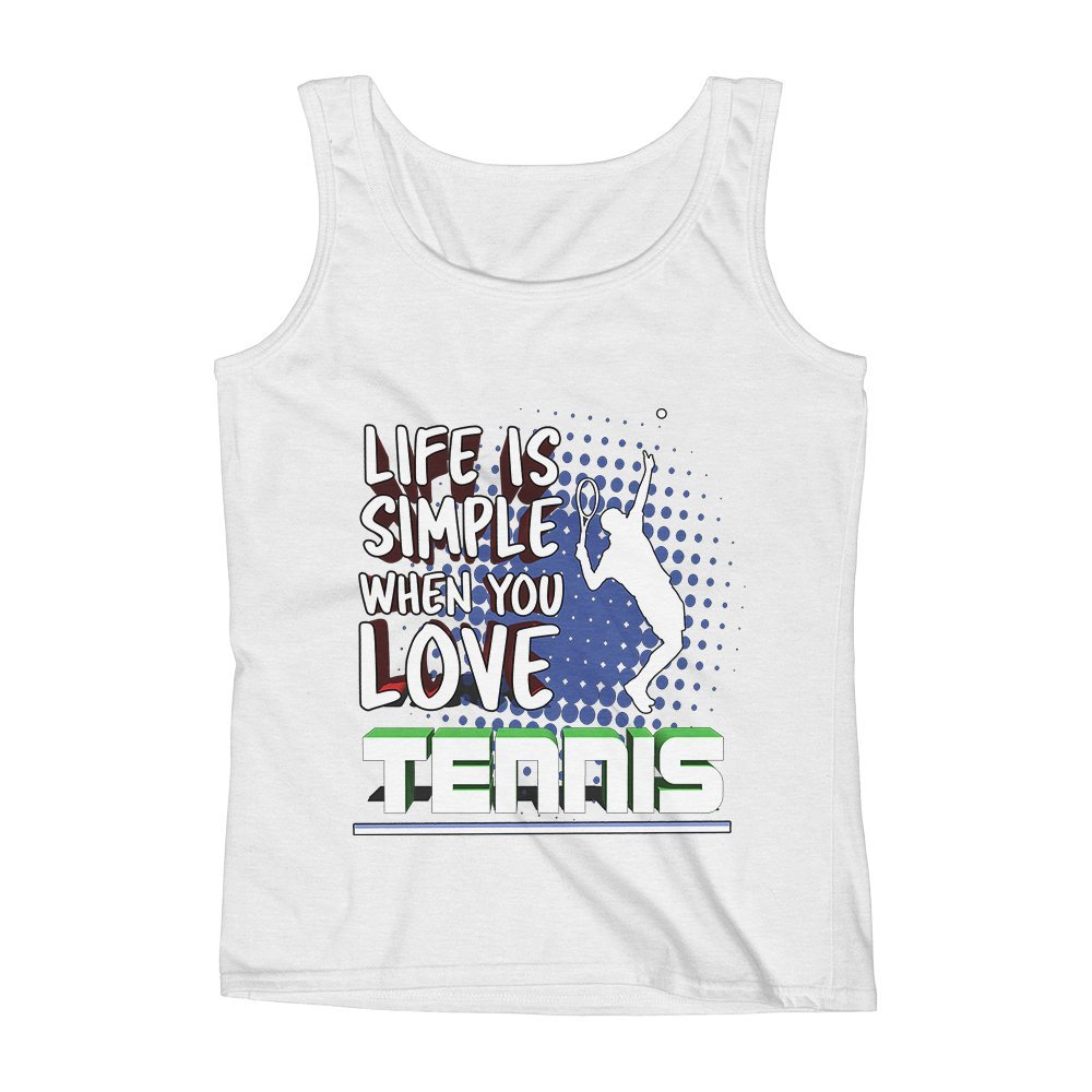 Mad Over Shirts Life is Simple When You Love Tennis Unisex Premium Tank Top