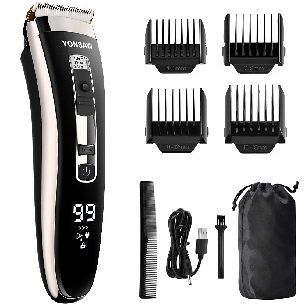 YONSAW Hair Clippers for Men Professional Cordless Electric Mens Hair Clippers for Hair Cutting 3 Speed Quiet Rechargeable Hair Trimmer Beard Trimmer Haircut Grooming Kit Home Barber Gift