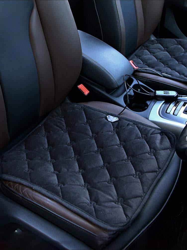 schnelles Aufheizen weiches bequemes Autositz-Heizkissen QUUY 12V 20W beheiztes Sitzkissen elektrischer Autositz-Heizkissenw/ärmer Winter
