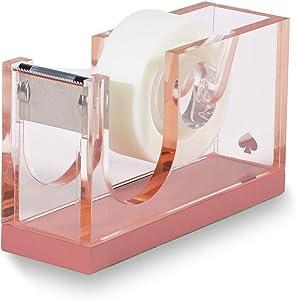 Kate Spade New York Pink Acrylic Tape Dispenser, Colorblock