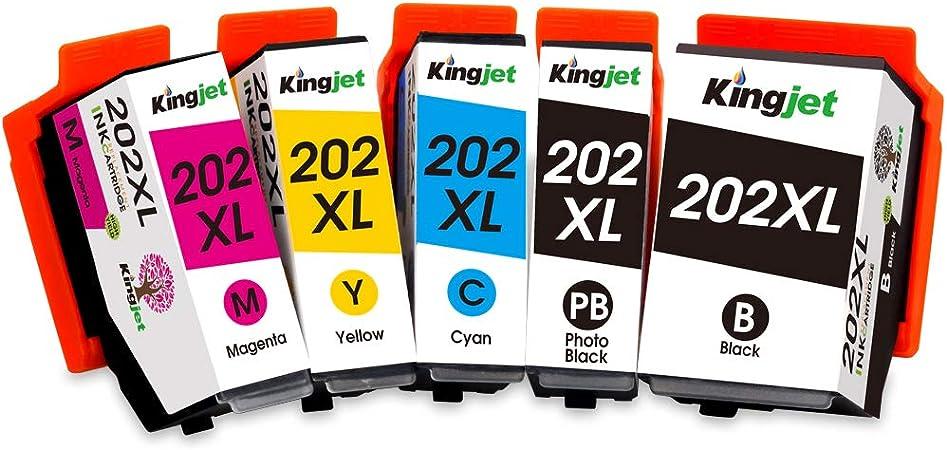 Kingjet 202xl Tintenpatronen Kompatibel Mit Epson 202 Xl Kompatibel Mit Epson Expression Premium Xp 6000 Xp 6005 Xp 6100 Xp 6105 Bürobedarf Schreibwaren