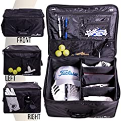 "LARGE ORGANIZER FOR ALL YOUR GOLF ACCESSORIES         The Athletico Golf Trunk Organizer measures in at 17"" Wide X 13"" Deep X 9"" High  and can easily store your golf accessories, include shoes, hat, balls, tees, clothing, glove, and mo..."