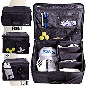 Athletico Golf Trunk Organizer Storage – Car Golf Locker to Store Golf Accessories | Collapsible When Not in Use