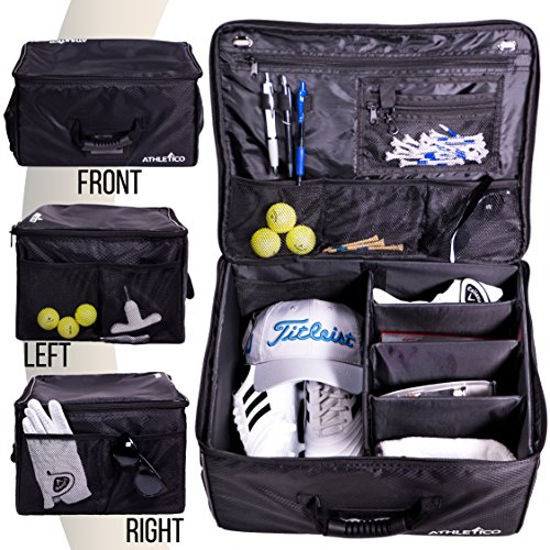 - Athletico Golf Trunk Organizer Storage - Car Golf Locker to Store Golf Accessories | Collapsible When Not in Use