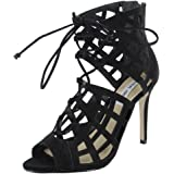 Steve Madden Womens Sedduce Lace Up Strappy Pump Shoes