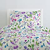 Carousel Designs Bright Wildflower Duvet Cover Queen/Full Size - Organic 100% Cotton Duvet Cover - Made in the USA