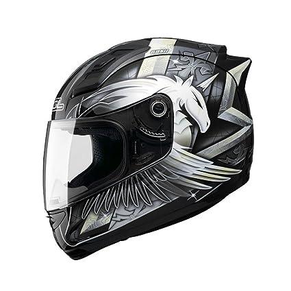 QINGTAOSHOP Casco de la Motocicleta de la Personalidad Hombres y Mujeres Casco Completo de la Cara