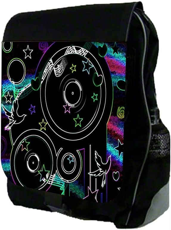 TM School Backpack and Pencil Case Set Musical Disco Design Rosie Parker Inc