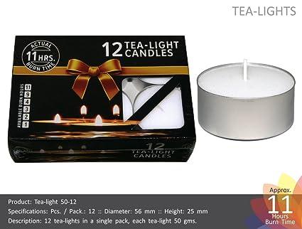 7c5838db3d Buy Nanki Trades Round Wax Giant Tea Light Candles (5.6 cm x 5.6 cm ...