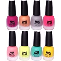 Makeup Mania Premium Nail Polish Set, Velvet Matte Nail Paint Combo of 8, Home & Professional Use, Perfect Gift for Girls & Women (MM # 60-68)