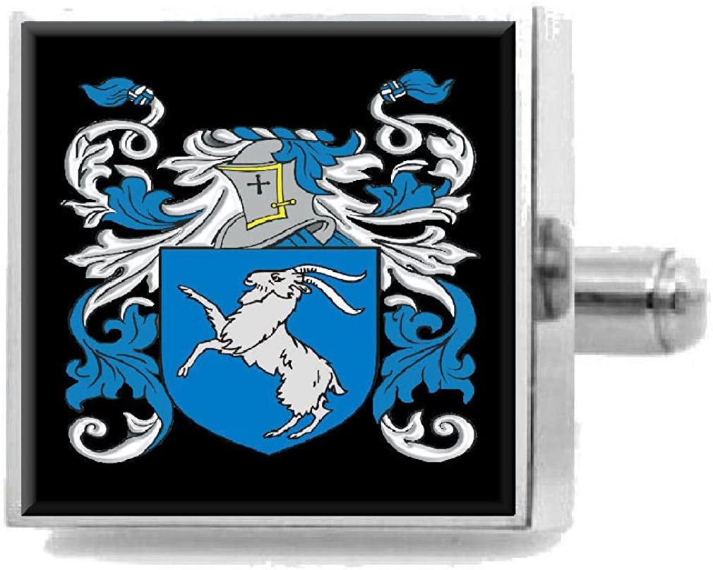 Select Gifts Toft England Heraldry Crest Sterling Silver Cufflinks Engraved Message Box