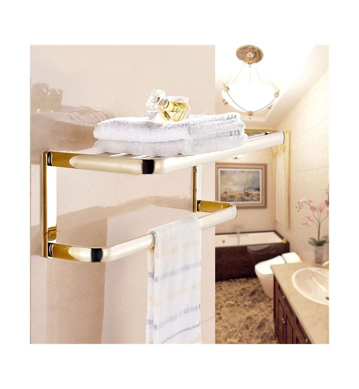 T-YSPJ Toallero de cobre Toallero de cobre baño Toalla Toalla Toalla de oro colgante para baño set de accesorios de hardware colgante, toallero a50ba8