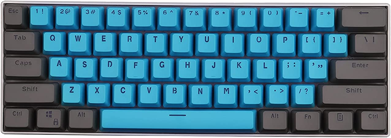 Keycaps, 61 PBT Keycaps Backlight Bicolor Teclado Mecánico PBT Teclas ANSI Layout Keyset para Ducky Keyboard / GH60 / RK61 / ALT61 / Annie/Keyboard ...